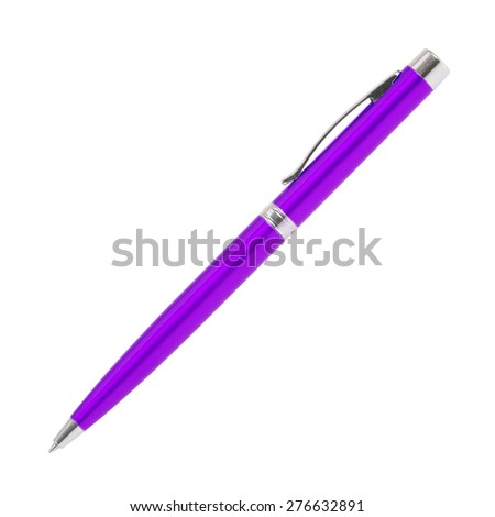 pen isolated on white - stock photo