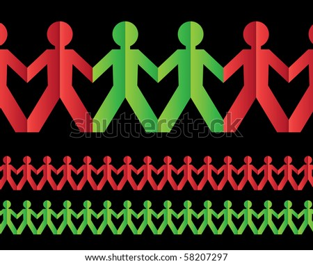 People Paper Chain - stock photo