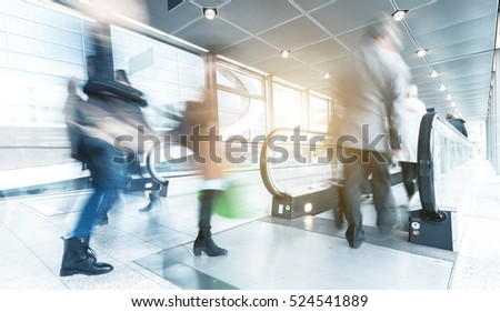 People Walking Commuter Travel Motion Concept
