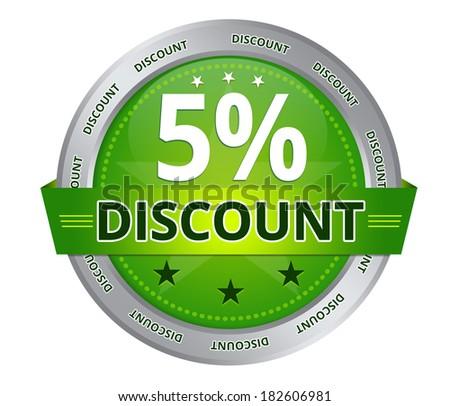 5 percent Discount - stock photo