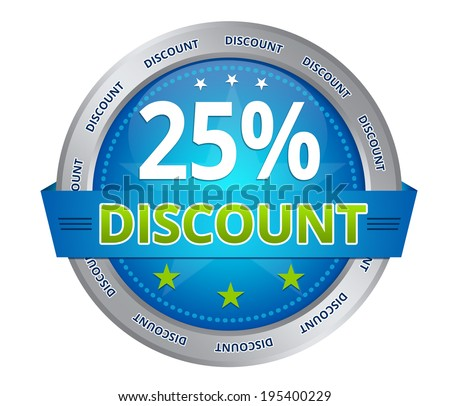 25 percent discount - stock photo