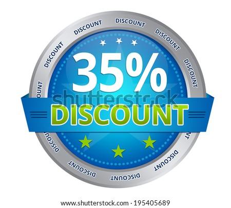 35 percent discount - stock photo