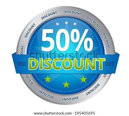 50 percent discount - stock photo