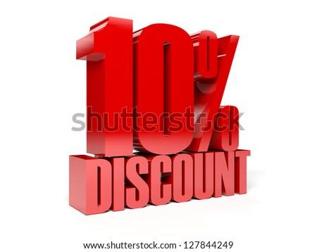 10 percent discount. Concept 3D illustration. - stock photo