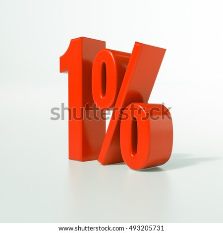 1 Percent Discount 3d Sign on White Background, Special Offer 1% Discount Tag, Sale Up to 1 Percent Off, Sale symbol, Special Offer Label, Sticker, Tag, Banner, Advertising, Badge, Emblem, Web Icon