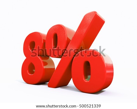 8 Percent Discount 3d Sign on White Background, Special Offer 8% Discount Tag, Sale Up to 8 Percent Off, Sale Symbol, Special Offer Label, Sticker, Tag, Banner, Advertising, Badge, Emblem, Web Icon