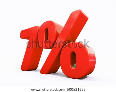 7 Percent Discount 3d Sign on White Background, Special Offer 7% Discount Tag, Sale Up to 7 Percent Off, Sale Symbol, Special Offer Label, Sticker, Tag, Banner, Advertising, Badge, Emblem, Web Icon