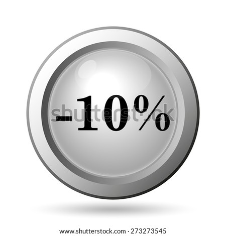 10 percent discount icon. Internet button on white background.  - stock photo