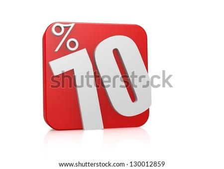 70 percent in cube - stock photo