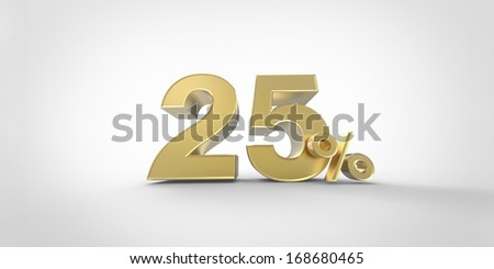 percent isolated on white background