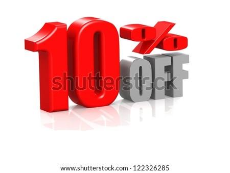 10 percent off - stock photo
