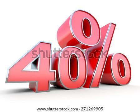 40 percent off - stock photo