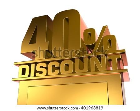 40 percent off discount - stock photo