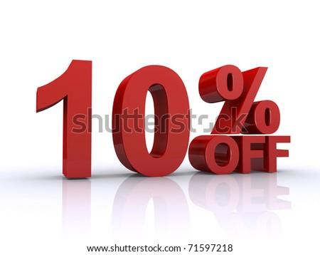 10 percent off discount - stock photo