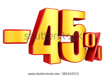 -45 percent on a white background
