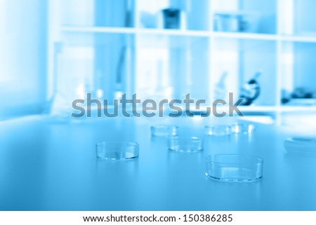 petri dishes used in laboratory  - stock photo