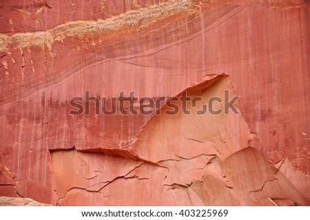 Petroglyphs, Capitol Reef National Park, Utah, USA - stock photo