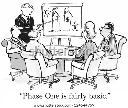 """""""Phase One is fairly basic"""" with chart. - stock photo"""