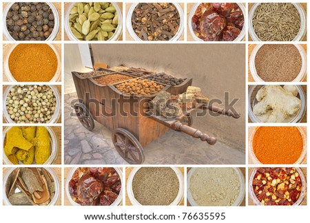 photo of various spices all over the world - stock photo