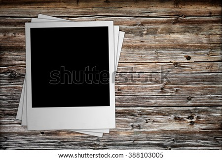 photo polaroide isolated on the white backgrounds - stock photo