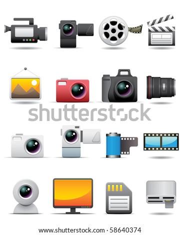 Photo, Video, Film Icons -- Premium Series - stock photo