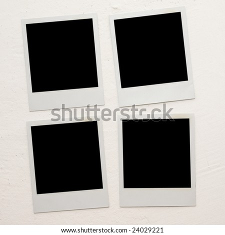 Photoframes of an empty photo. - stock photo