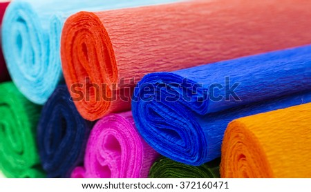 photographed close-up color corrugated paper, different colors