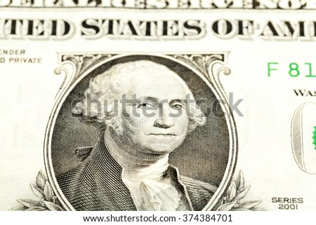 photographed close-up of a paper us dollar.