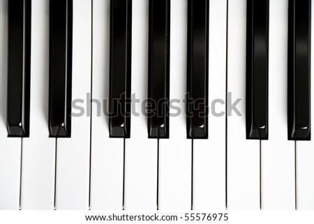 Piano Key close up shot - stock photo