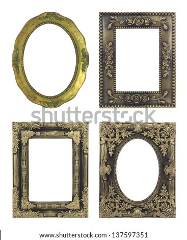 4 picture frame on white background