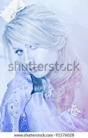 Picture of a Snow queen - stock photo