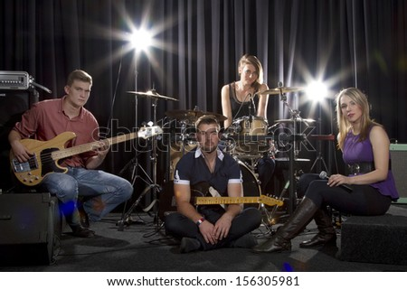 4 Piece band on stage