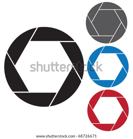 4 piece diaphragm camera shutter blade - stock photo