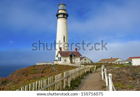 Pigeon Point Lighthouse, Big Sur Coast, California - stock photo