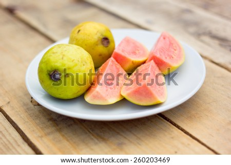 Pink guava - stock photo