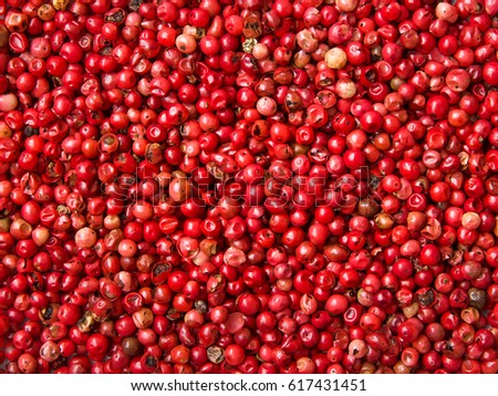 Pink peppercorn background