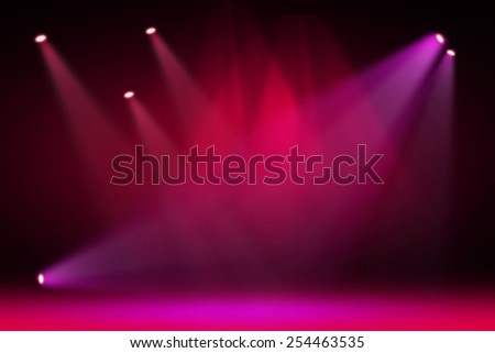 Pink stage light background  - stock photo