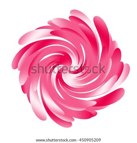 Pink Twirl - stock photo