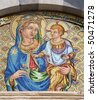 Pisa - mosaic of holy mary with the Jesus - Chiesa e convento di San Torpe - stock photo