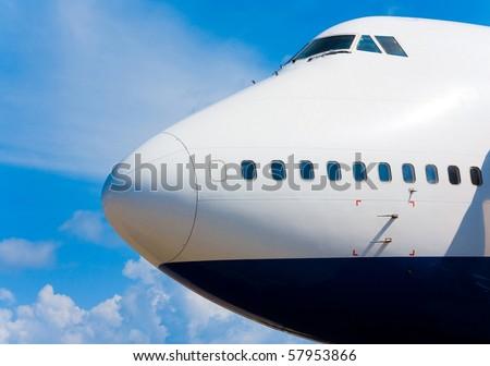 Plane Nose - stock photo