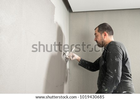 Plasterer with Copy Space