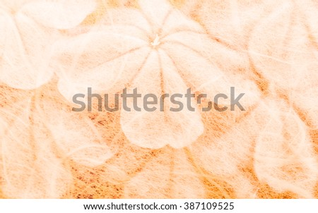 (Plumbago auriculata) flowers in mulberry paper texture vintage style for background soft focus. - stock photo