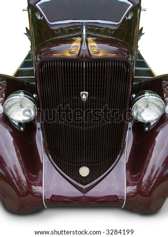 1934 Plymouth Hotrod muscle car Isolated - stock photo