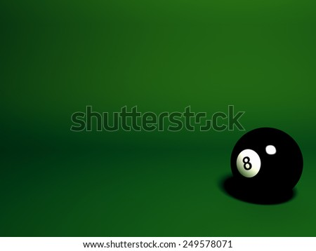 8 Pool ball - stock photo