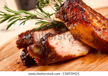 Pork ribs - stock photo
