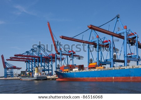 port of shipment - stock photo