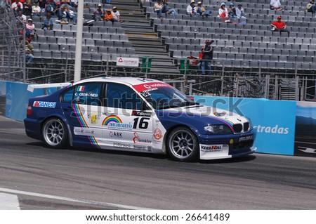 PORTO, PORTUGAL - JULY 8: C.Cremonesi of ITA in his BMW participates in the FIA WORLD TOURING CAR CHAMPIONSHIP on July 8, 2007 in Porto, Portugal. - stock photo