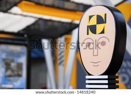 Portrait icon   of a crash test dummy - stock photo