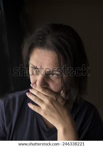 portrait of a sad woman  - stock photo