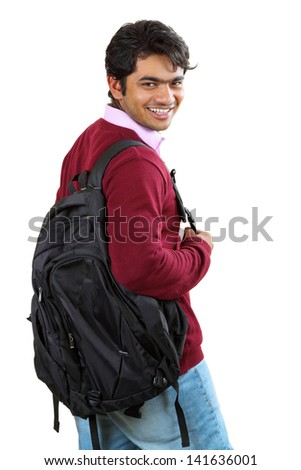 Portrait of a young Indian / Asian Male College